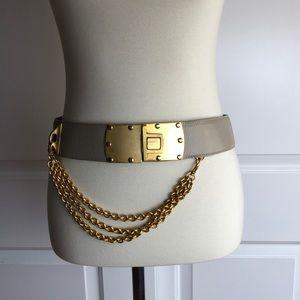 Donna Karan NY Leather Chain Belt
